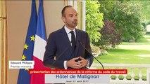 """Edouard Philippe : """"les ordonnances seront présentées en Conseil des ministres le 22 septembre"""""""