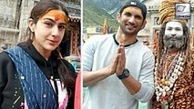 Sara Ali Khan & Sushant Singh Rajput Seek Blessings Before Shooting Kedarnath!