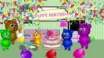 Mega Gummy Bear Candy Lollipop Ice Cream Train Funny Cartoon Finger Family Nursery Rhymes