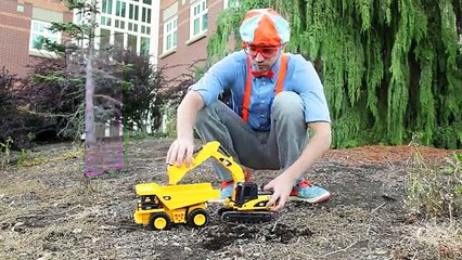 Dump Truck and Excavator Counting | Learn to Count with Blippi Toys Blippi makes playing w