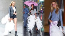 Victoria's Secret Angels Show Off Their Wings After Fashion Show Fitting