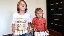 Video Niños para y que se desarrolla experimentos interesantes experimentos van en un huevo crudo