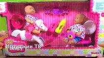 Bébé née jeunes filles pour jouets avec Pupsik vidéo jeu de poupée repas fille mère mis dalimentation