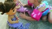 Vivant et bébé poupées magique sirène sirènes mon costume nager la natation avec Maddy elsa