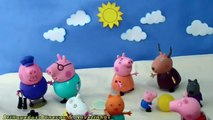 Bain Bonbons chat complet n / A porc temps équipe Peppa épisode Peppa donne le bain à bulles dans portug