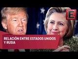 Hillary y Trump hablan sobre la relación con Rusia / Tercer debate Hillary Clinton y Donald Trump