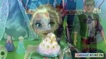 Anniversaire gâteau fièvre gelé fête jouer doh fête givrée anna anniversaire reine des neiges c