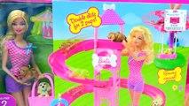 Радуга горка бассейн вечеринка Барби челси воды играть Набор для игр игрушка видео с щенок Наименьший