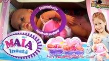 Et bébé par par poupée pour filles enfants la natation à Il jouets vidéo regarder Maia ema eric surprise gian