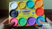 Cas couleurs noyaux faire de de pâte à modeler arc en ciel déballage petites pâtes arc-en-playdough