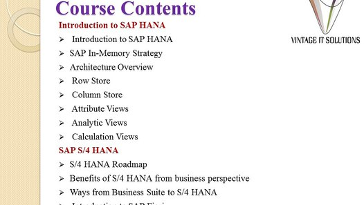 SAP S4 HANA Simple Logistics Training