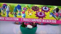 Pâques des œufs amusement amusement enfants sucettes Plastique coquelicot jouets dreamworks trolls surprise chupa chups