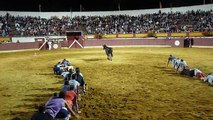 Voici un nouveau jeu dans les arènes sans blesser les taureaux !  !