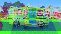 Mega gummy bear wheels on the bus funny cartoon finger family rhymes for children  gummybe