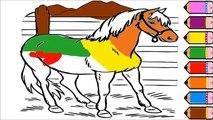 Y para colorear para caballo Niños Aprender página pintar para color