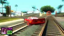 Coches relámpago el revisión mods gta san andreas coches Rayo McQueen McQueen videojuego