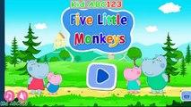 Être lit cinq hippopotame sauteur enfants Apprendre petit singes sur le le le le la Peppa |