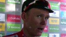 """La Vuelta 2017 - Chris Froome : """"J'ai bien récupéré de mes chutes"""""""