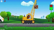 Kids Learn Heavy Machines Dump Trucks, Crane, Digger, Bulldozer App for Children Fun for K