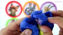 Boîtes les couleurs des œufs Apprendre jouer jouets W zootopia doh surprise disney minecraft simpsons ~ ☀ * ★