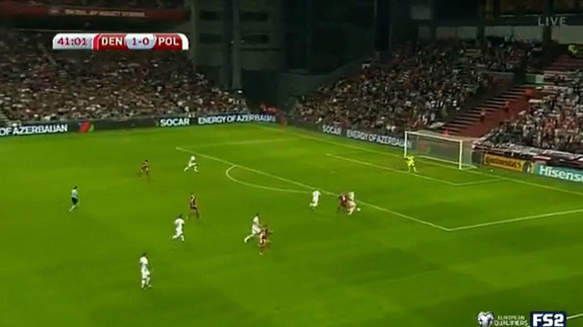 Андреас Корнелиус Гол HD - Дания 2-0 Польша 01.09.2017
