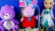 Et enfants amusement amusement rires étreinte porc chante truc jouet Peppa n oink animal oinks peppapig melo