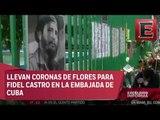Rinden homenaje a Fidel Castro en Embajada de Cuba en México