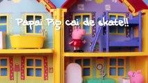 Faire porc ♛ Peppa george peur tombe toit Peppa disneykids portugais Brésil