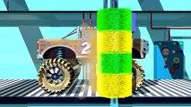 Par par voiture enfants pour enfants monstre un camion camions vidéos lavage |