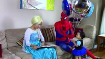 冷凍エルザはゴーストになります! w/ スパイダーマン、悪事を働く、ジョーカーガールスーパーヒーローのビデオ