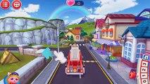 Niños para y historietas de dibujos animados educativos niños pequeños camiones de bomberos del tema acerca