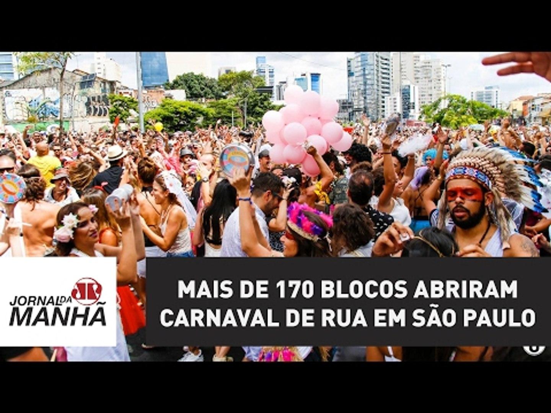 Mais de 170 blocos abriram Carnaval de rua em São Paulo neste final de semana