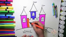 Y Castillo para colorear Sorteo dibujo para cómo Niños páginas sencillo para vídeos color l