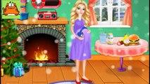 Niños para esposa embarazada niños de Santa Claus Santa da a luz a gemelos dibujos animados de Navidad