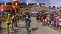 Yates atop the 2nd climb / Yates en en Alto del Purche - Etapa 15 / Stage 15 - La Vuelta 2017