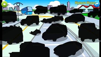 Y coches para Niños Aprender aprendizaje nombres sonidos calle camiones vehículos trors ambulancia