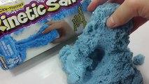 Bleu argile couleur gelé dans cinétique le sable Bleu Color Kinetics sable fabrication de moules de sable argile Saison Frozen Inside Out Dessiner Pororo