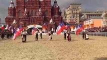Una escuadra ecuestre chilena se despide de Moscú con un colorido espectáculo