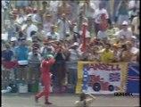 Gran Premio di Gran Bretagna 1990: Ritiro di Mansell con sua intervista e testacoda di N. Piquet