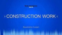 Ambiance effets bruit de plein air son travail Travaux de construction construction de la construction de forage ssou
