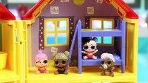 LOL Surprise Dolls Get Sick and Visit Disney Jr Doc McStuffins Toy Hospital Playset!
