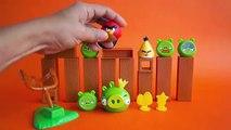 Acción enojado aves juego en en golpe vida en jugando juego Informe juguete madera Unboxing real