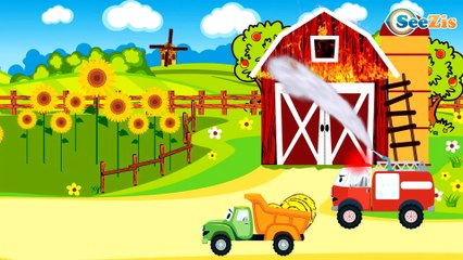 The Red Truck at the Construction Site - Monster Truck TV - Cars & Trucks for Kids