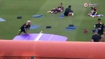 Le ping-pong ballon de Neymar, Dani Alves, Gabriel Jesus et Philippe Coutinho