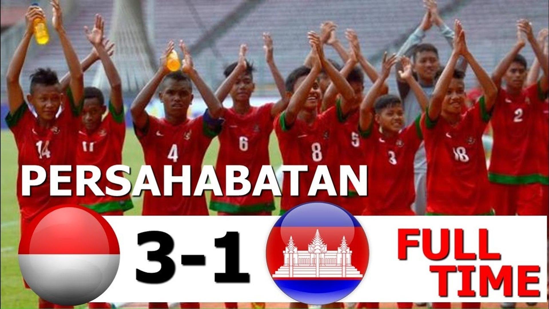 Full Highlights INDONESIA VS KAMBOJA 3-1 Cuplikan Gol timnas senior Indonesia 2017 terbaru