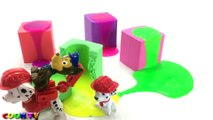 Learn Colors Kinetic Sand Glitter Slime with Bad Baby Paw Patrol Toys Learning Colours for Kids
