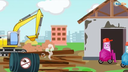 The Big Truck and The Crane | Construction Trucks & Service Vehicles Cartoons for children