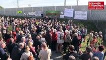 VIDEO. Fontaine-le-comte. Manifestation contre les nuisances sonores de la nouvelle ligne LGV