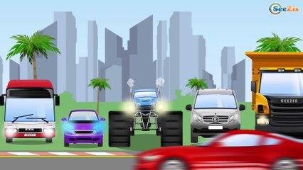 Super Monster Truck - Car Race Vs Police Car - Video For Kids
