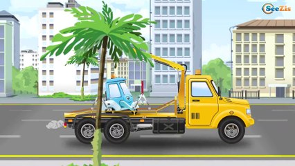 Fun Story w Tow Truck & Police Car - Cars & Trucks Kids Video - Vehicle & Chi Chi Car for children